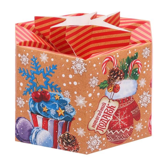 Складная коробка «Вкусности», 18.5 × 16 × 16 см