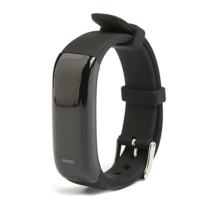 """Фитнес браслет Qumann QSB 09, 0.96"""", IP67, цветной экран, датчик давления, шагомер, чёрный"""