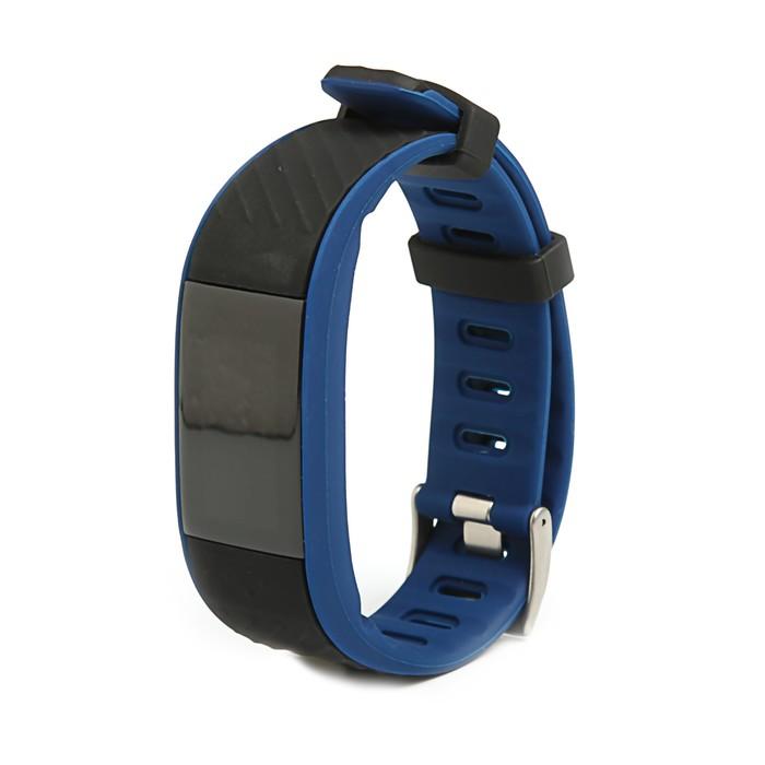 Фитнес-браслет Qumann QSB 12, цвет дисп, оповещения, будильник, шагомер, темно синий-черный