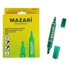 Маркер перманентный двухсторонний 2.0 мм/6.0 мм DUO зеленый, пулевидный и клиновидный