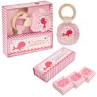 """Подарочный набор """"Сокровища нашей малютки"""": набор памятных коробочек и погремушка"""