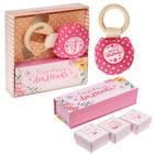 """Подарочный набор """"Любимая малышка"""": набор памятных коробочек и погремушка"""