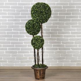 """Дерево искусственное """"Три шара"""" крупный лист 150 см"""