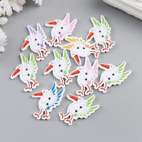 The decor art tree the Storks set 10 PCs MIX 3,2x2,4 cm