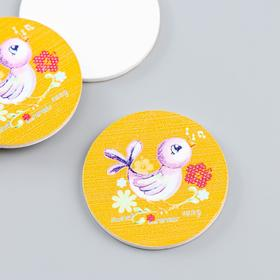 """Decor for creative wood """"Chick"""" is a set of 10 PCs 3x3 cm"""