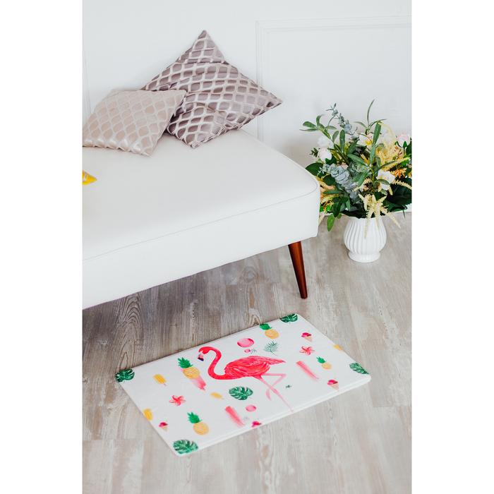 Коврик «Фламинго», 40×60 см