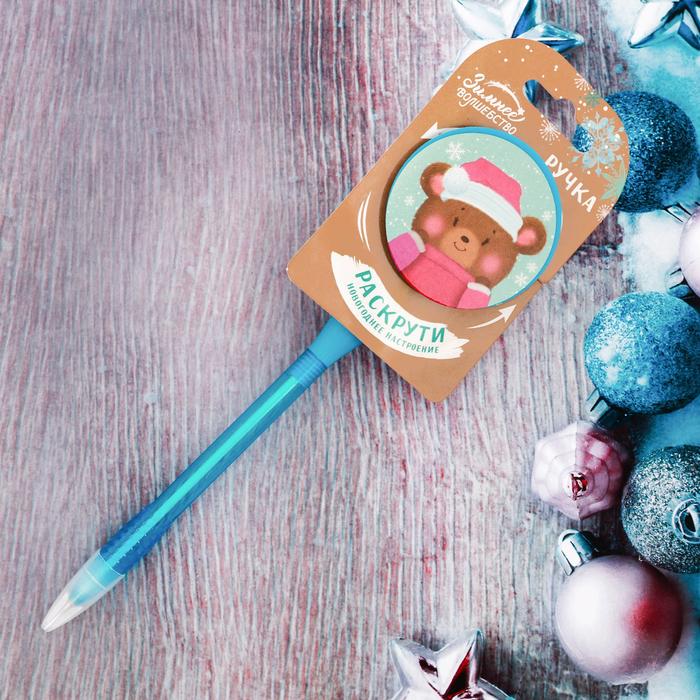 """Ручка крутящаяся """"Румяный медведь"""""""