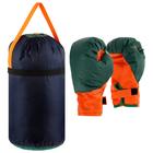 Детский боксёрский набор большой (перчатки+ груша d25 h40см)