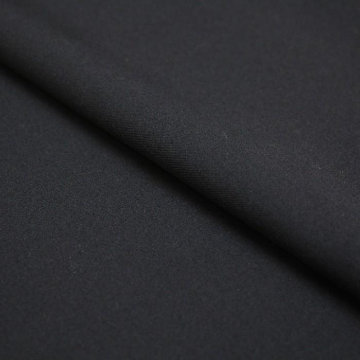Ткань костюмная, вискоза гладкокрашенная, ширина 150 см, чёрный