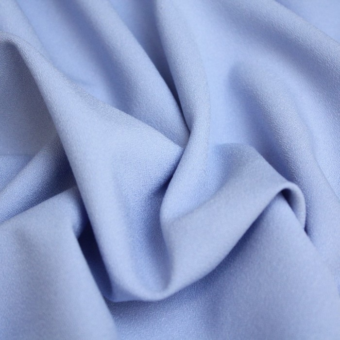 Ткань костюмная, креп бистрейч, ширина 150 см, голубой