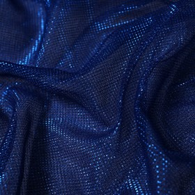 Трикотаж плательный, сетка мягкая, ширина 150 см, синий Ош
