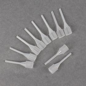 A set of pipettes, 10 PCs, white