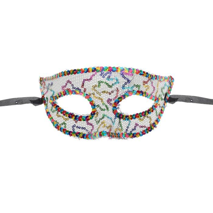 Карнавальная маска «Загадка», с пайетками - фото 457474