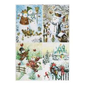 """Decoupage map """"Winter tenderness"""" a density of 45 g/m2, A4"""