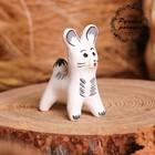 Сувенир «Зайка», белый, 3,5×4×5,5 см, каргопольская игрушка
