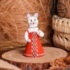 Сувенир «Зайчиха», 4,5×4,5×10 см, каргопольская игрушка
