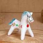 Сувенир «Конь», 5,5×6×8 см, каргопольская игрушка