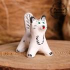 Сувенир «Котик», белый, 3,5×4×5,5 см, каргопольская игрушка