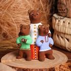 Сувенир «Медведица с медвежатами», 6×8×13 см, каргопольская игрушка