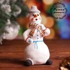 Сувенир «Снеговик», 4,5×4,5×10 см, каргопольская игрушка