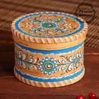 Шкатулка, 13×13×9 см, шенкурская роспись, синяя
