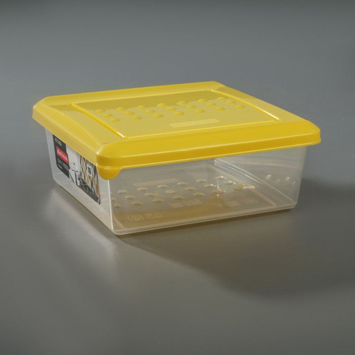 Емкость для хранения продуктов 500 мл Pattern, цвет охровый