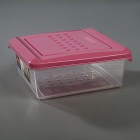 Емкость для хранения продуктов Plast team Pattern, 500 мл, цвет пурпурный