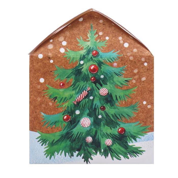 Складная коробка «Время подарков», 10 × 10 × 8 см