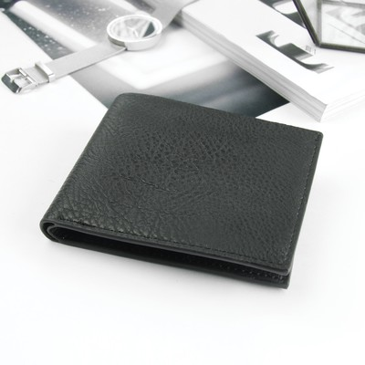 Purse male, 2 division, for cards, black