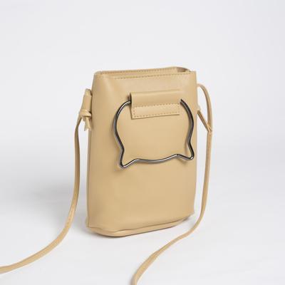 Bag, long strap, color beige