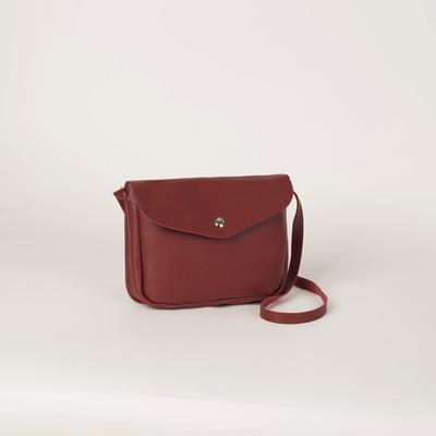 Bag for women, the division on the flap, long strap, color red