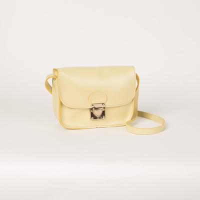 Bag for women, the division on the flap, long strap, color milk