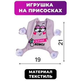 Автоигрушка «Обогнал - женись», на присосках, зайка