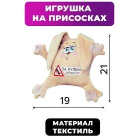 Игрушка для авто «За рулем девушка», зайка