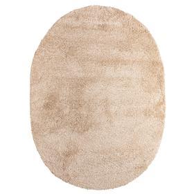 Ковёр Фризе «Шегги», цвет меланж, овал 100х200 см