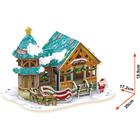 3D Пазл «Рождественский домик №3», с подсветкой, 43 детали