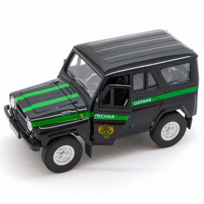 Коллекционная модель машины LADA 2108 УАЗ 31514 «Лесная охрана», масштаб 1:34-39