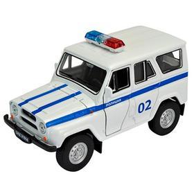 Коллекционная модель машины LADA 2108 УАЗ 31514 «Полиция», масштаб 1:34-39