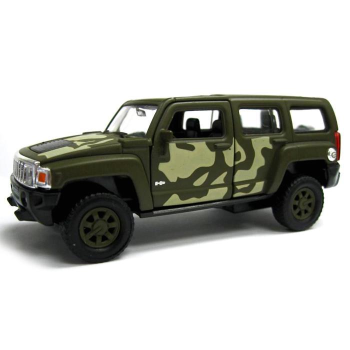 Коллекционная модель военной машины Hummer H3, масштаб 1:34-39