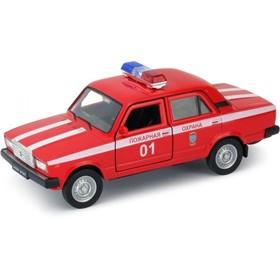 Коллекционная модель машины LADA 2107 Пожарная охрана, масштаб 1:34-39