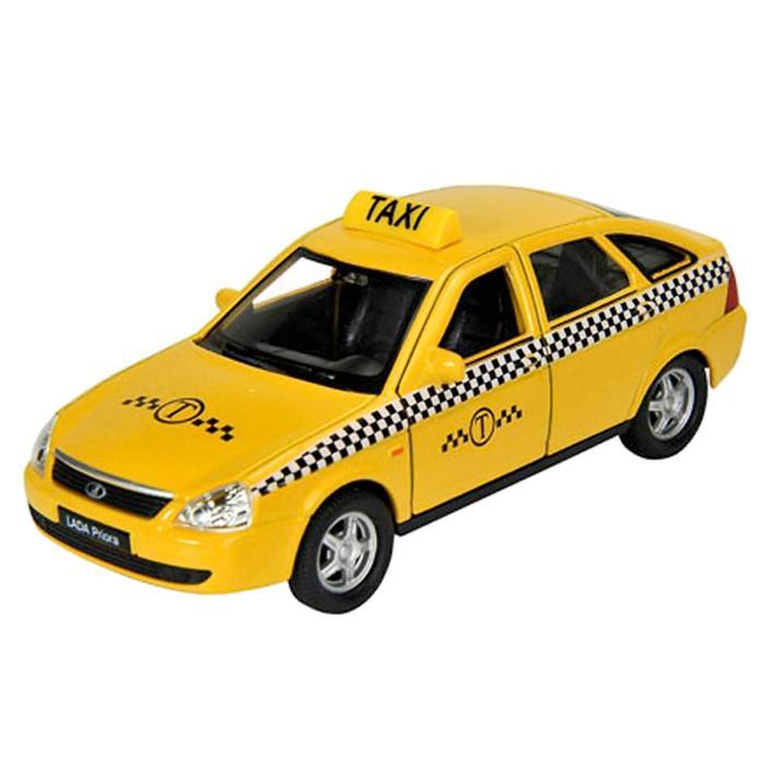 Коллекционная модель машины LADA PRIORA «Такси», масштаб 1:34-39