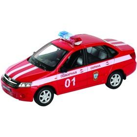 Коллекционная модель машины LADA Granta «Пожарная охрана», масштаб 1:34-39