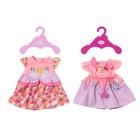 Одежда для куклы BABY born «Платья», с вешалкой, МИКС