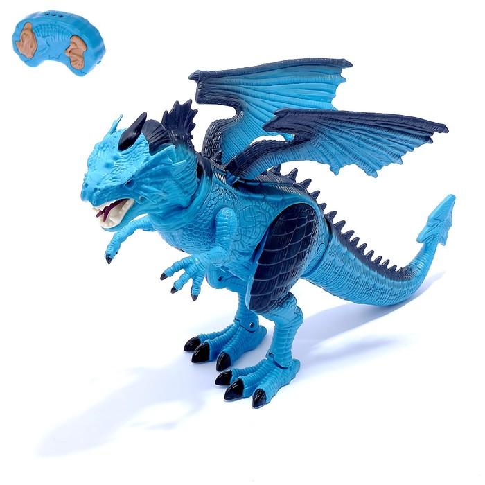 """Динозавр радиоуправляемый """"Дракон"""", эффект дыма, световые и звуковые эффекты"""