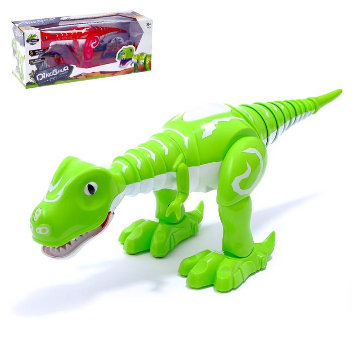 Динозавр-робот «Эволюция», работает от батареек, световые и звуковые эффекты, МИКС