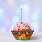 """Набор для выпекания кексов """"С Новым Годом""""свеча, набор 24 формочки"""
