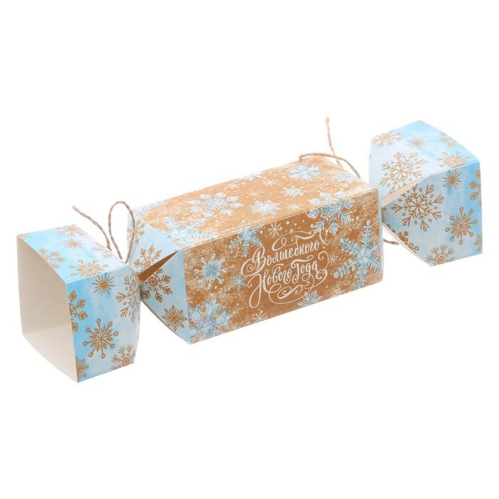 Складная коробка—конфета «Волшебного Нового года», 11 × 5 × 5 см
