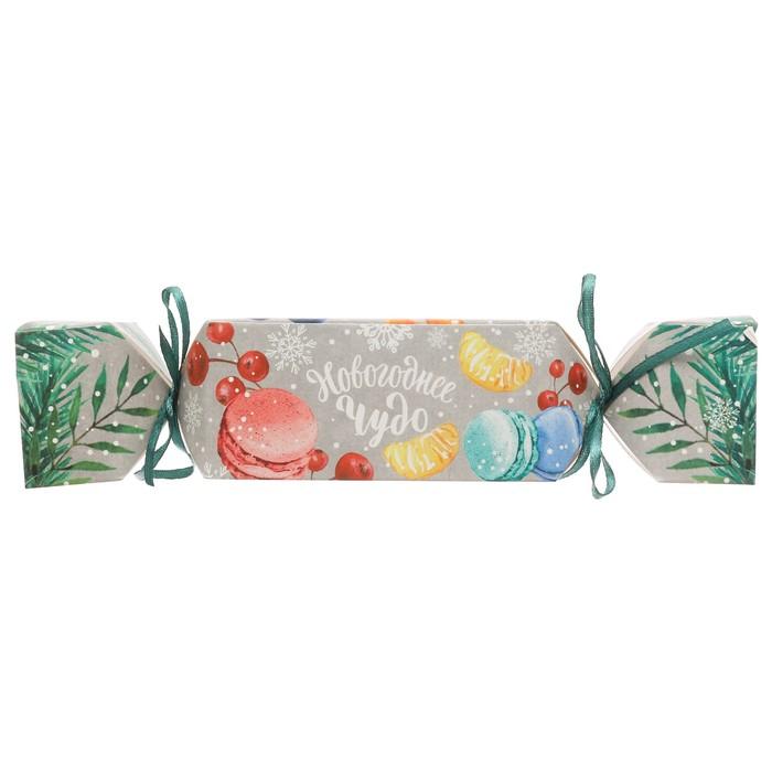 Складная коробка—конфета «Новогоднее чудо», 16 × 7 × 7 см