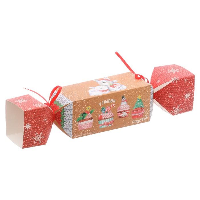 Складная коробка—конфета «Радости!», 16 × 7 × 7 см