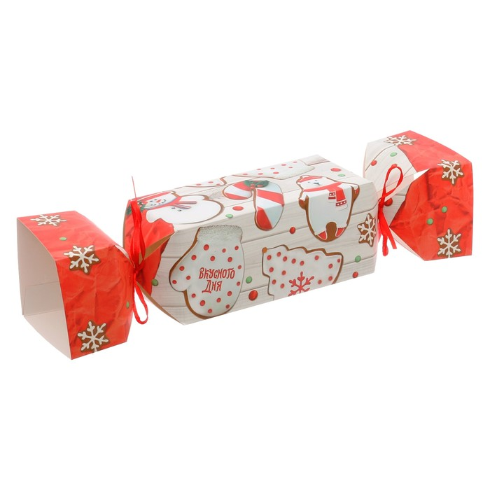 Складная коробка—конфета «Вкусного дня», 16 × 7 × 7 см